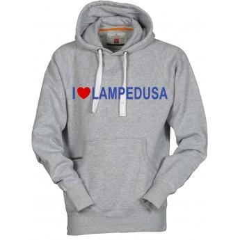 f8b724db4f4786 Felpa con cappuccio uomo nera - I Love Lampedusa