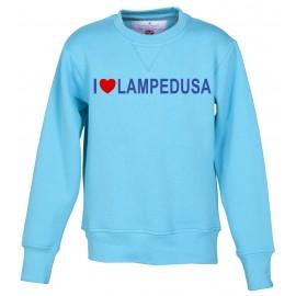 Felpa bambino gialla I Love Lampedusa