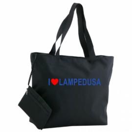 Borsa mare purse con beauty case nera